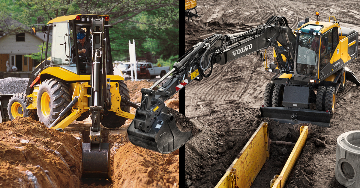 Wheeled Excavator vs Backhoe Loader for Trenching