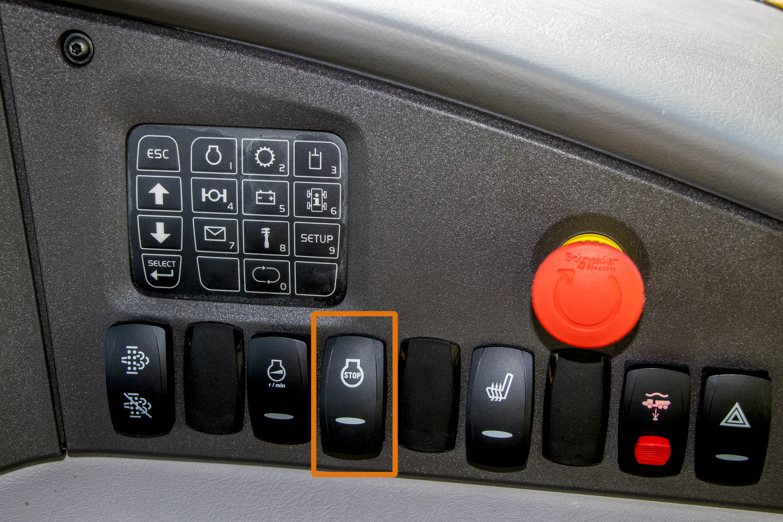 Volvo Articulated Truck Auto Shutdown